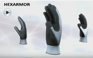 Image HexArmor glove video